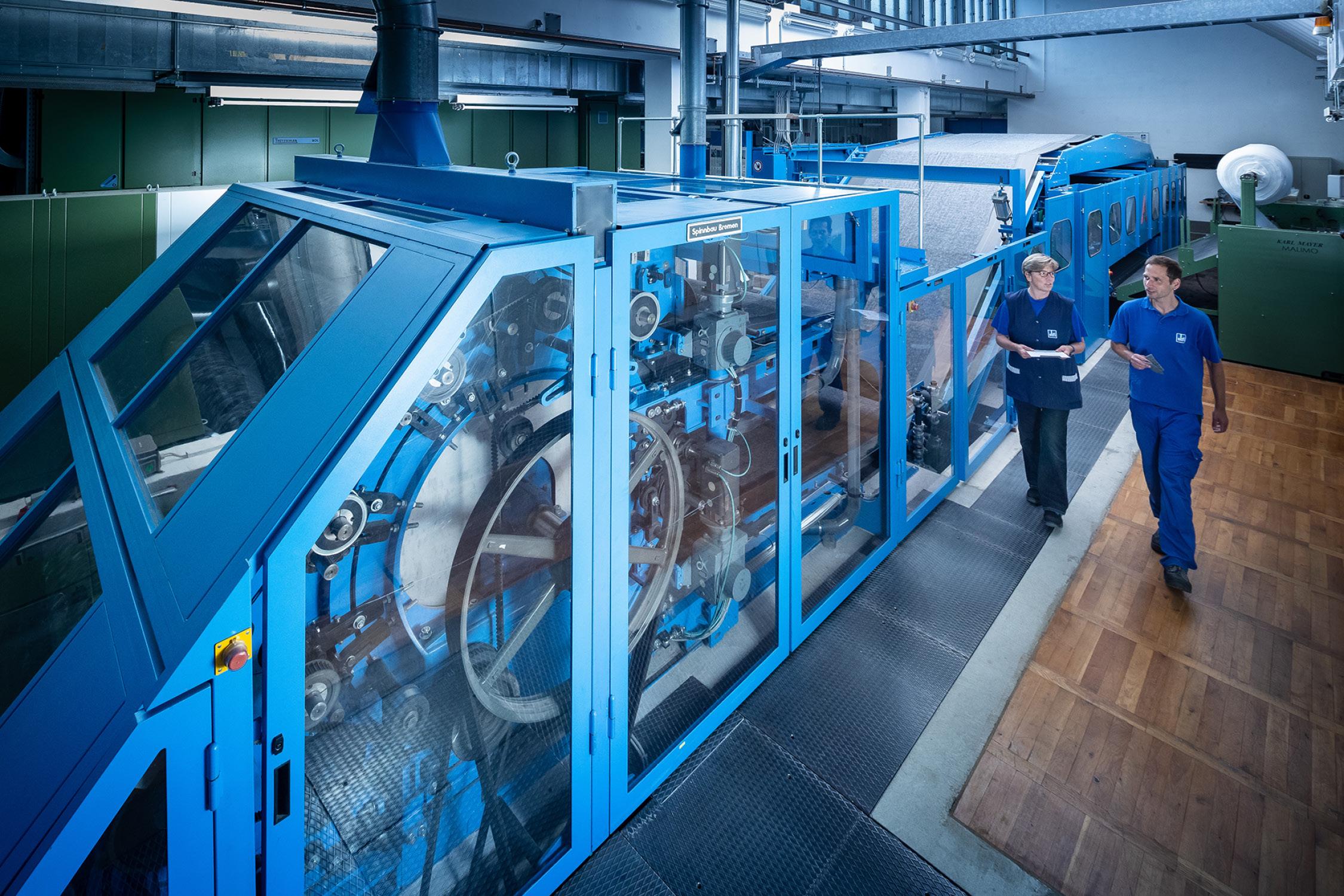 Faservliesstoffanlage im Sächsischen Textilforschungsinstitut